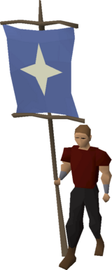 Saradomin banner equipped