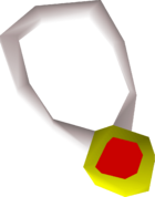Ruby amulet detail