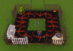 Volcanic theme built