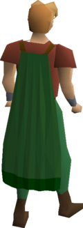 Green cape equipped