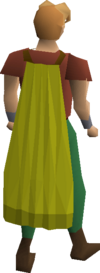 Yellow cape equipped