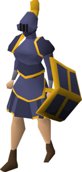 Mithril gold-trimmed set (sk) equipped