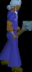 Rune mace equipped