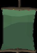 Green banner detail