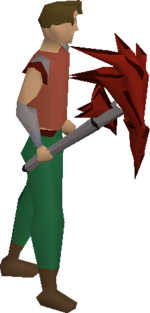 Dragon pickaxe (or) equipped