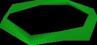 Green headband detail