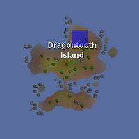 Hot cold clue - north Dragontooth Island map