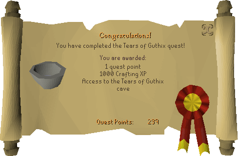 Tears of Guthix reward scroll