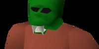 Green halloween mask