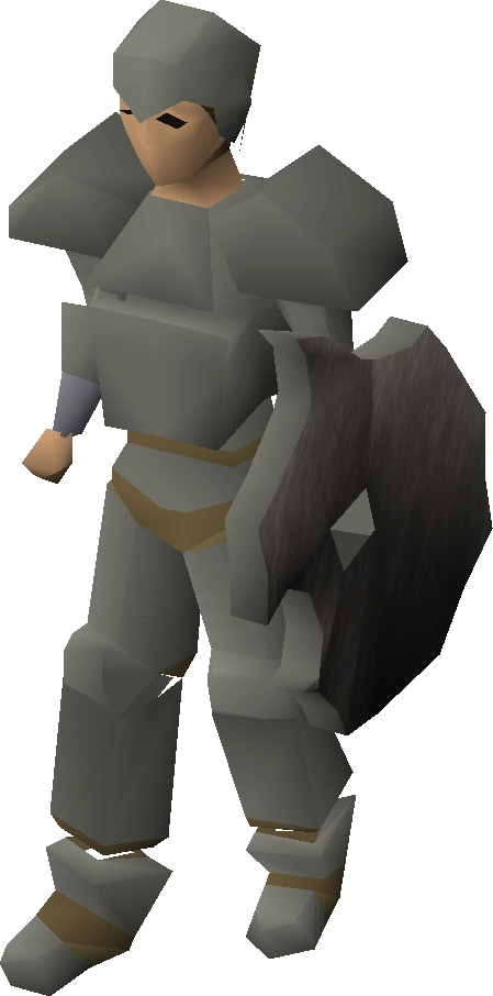 Granite armour equipped