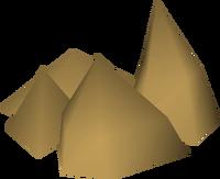 Clay rock