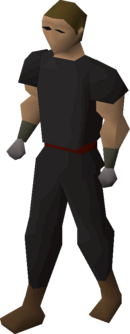 Expert mining gloves equipped