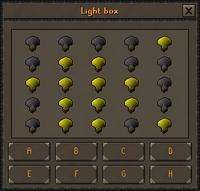 Light box interface