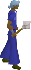White mace equipped
