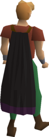 Black cape equipped