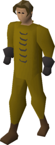 Plague suit equipped