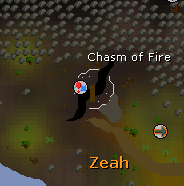 Chasm of Fire map