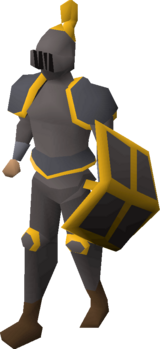 Iron gold-trimmed set (lg) equipped
