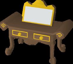 Gilded dresser built