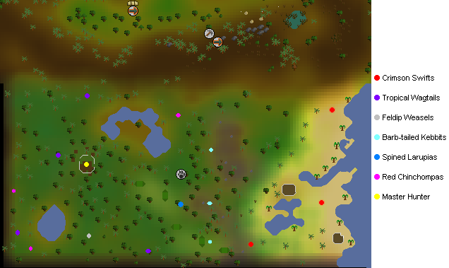 Feldip Hunter area map
