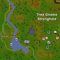 Hot cold clue - Southwest Tree Gnome Stronghold map