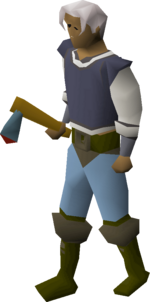 Rune axe equipped