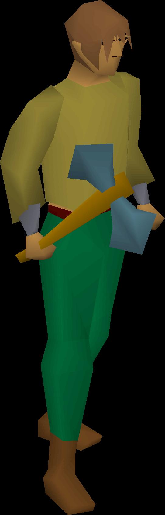 Rune battleaxe equipped