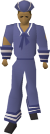 Blue naval set equipped