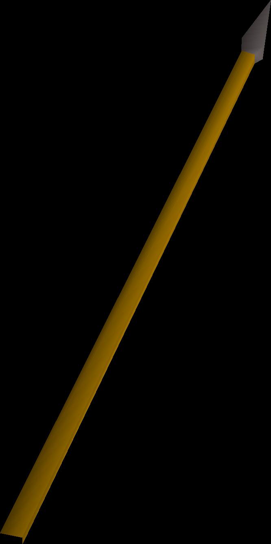 Iron spear detail