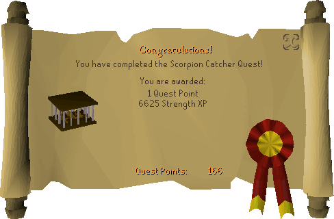 Scorpion Catcher reward scroll