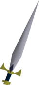 Gold decorative sword detail
