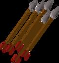 Steel arrows detail