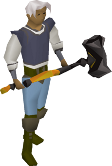 Elder maul equipped