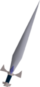 White decorative sword detail