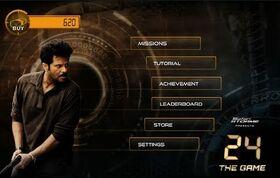 24 Indian game menu