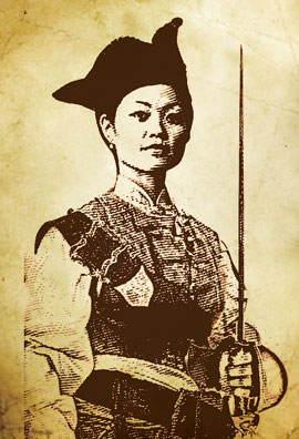 Ching Shih, the famous and murderous pirate.