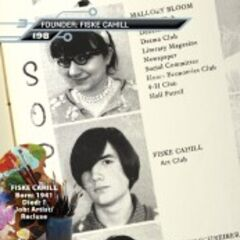 Fiske Cahill in his yearbook