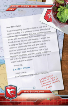 Card 213- The Stolen Letter