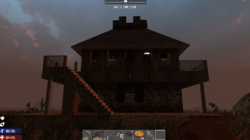 2 story house with fort on top
