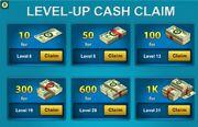 Level-up Cash Claim thumbnail