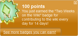 Two Weeks on the Wiki