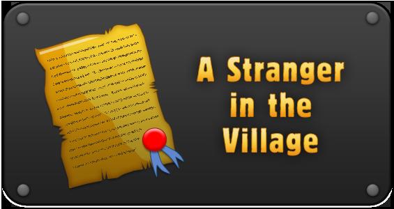 A stranger in the village