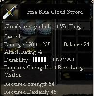 Fine Blue Cloud Sword