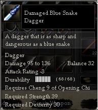 Damaged Blue Snake Dagger