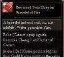 Reversed Twin Dragon Bracelet of Fire