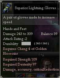 Superior Lightning Gloves