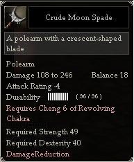 Crude Moon Spade