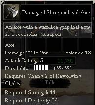 Damaged Phoenix-head Axe