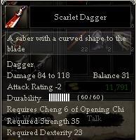 Scarlet Dagger