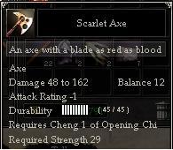 Scarlet Axe
